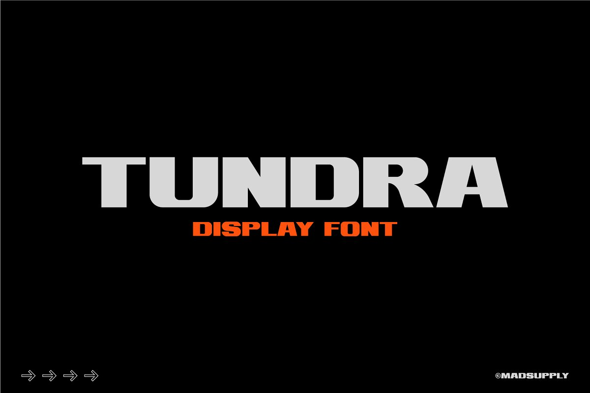 Tundra - Bold Display Font in Display Fonts - product preview 8