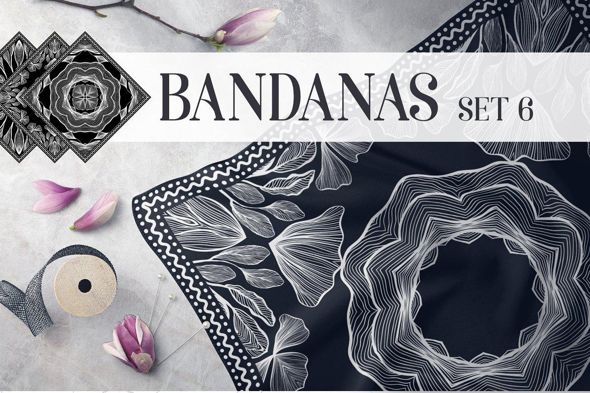 Bandanas Silk Scarf Set 6