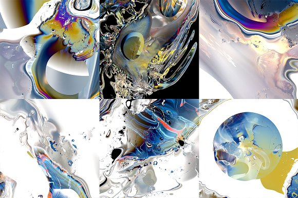 Digital Flow: 18 Abstract Textures in Textures - product preview 11