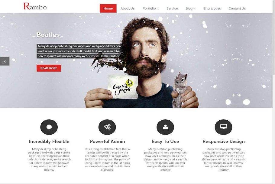 Rambo WordPress Theme for Corporates ~ WordPress Business