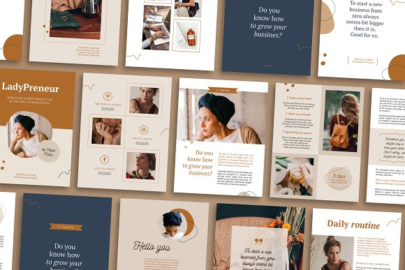 eBook / CANVA, INDD / Kayla in Magazine Templates - product preview 15