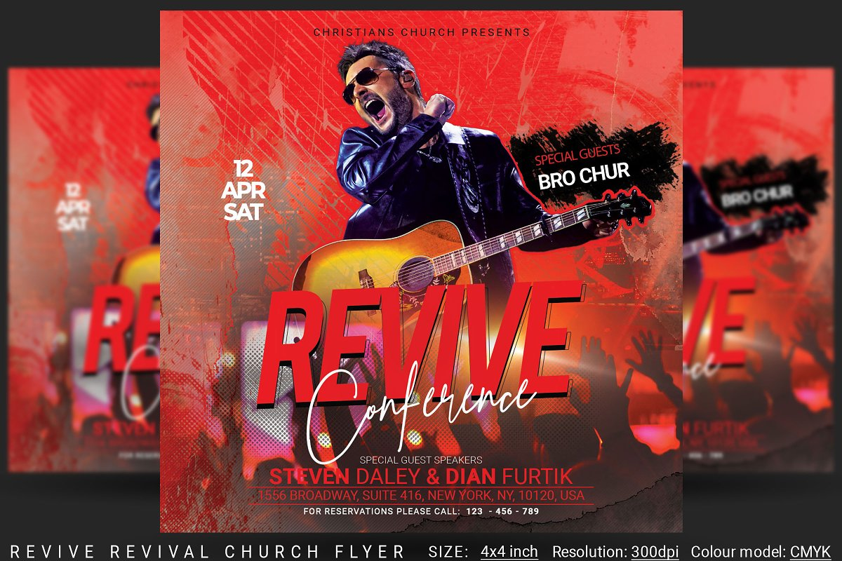 Revive Revival Church Flyer