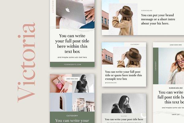 Victoria Social Media Templates