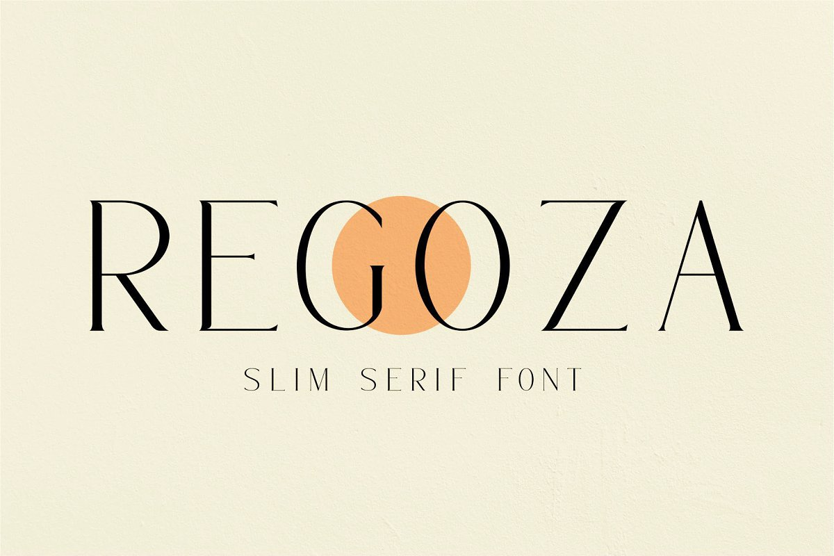 REGOZA//Typeface Slim Serif in Serif Fonts - product preview 8