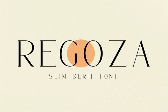 REGOZA//Typeface Slim Serif in Serif Fonts - product preview 6