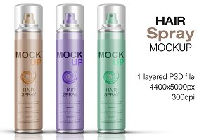 Hair Spray Bottle Mockup Vol. 3