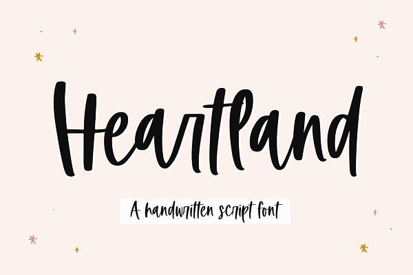 Heartland | Handwritten Script Font