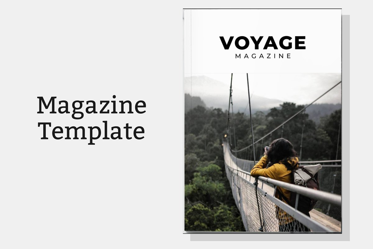 Voyage Magazine Template in Magazine Templates - product preview 8