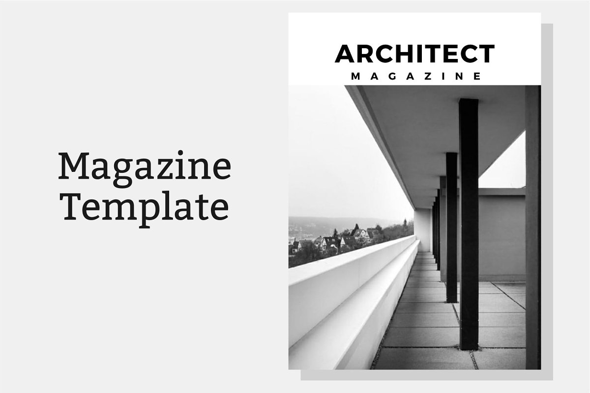 Architect Magazine Template in Magazine Templates - product preview 8