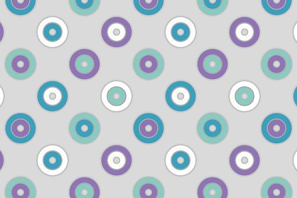 Colored circles. Seamless pattern.