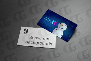 9 snowman with sky backgrounds