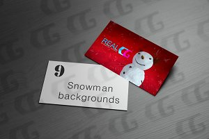 9 snowman with red sky backgrounds