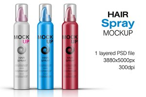 Hair Spray Bottle Mockup Vol. 4
