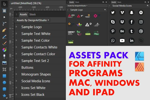 Affinity Assets Pre Designed Vector Graphics Creative Market