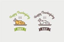 Flat design style Happy Thanksgiving