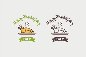 Flat design style Happy Thanksgiving