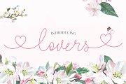 Lovers Script Font Family
