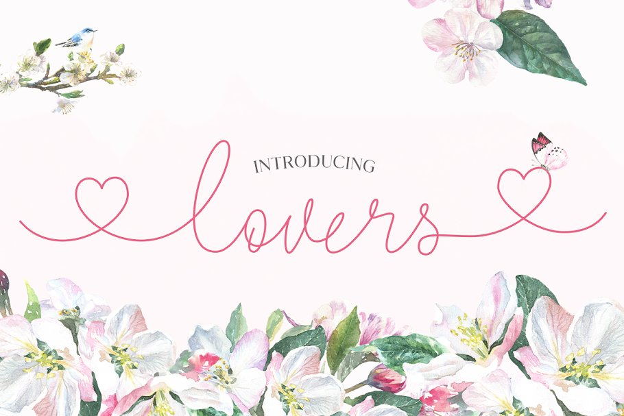 Lovers Script Font Family in Script Fonts - product preview 8