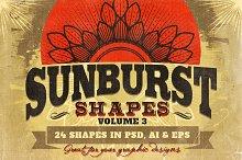 Sunbursts Shapes Vol.3