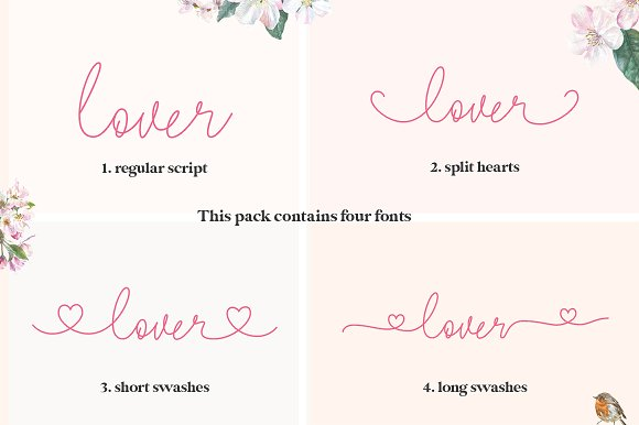 Lovers Script Font Family in Script Fonts - product preview 1