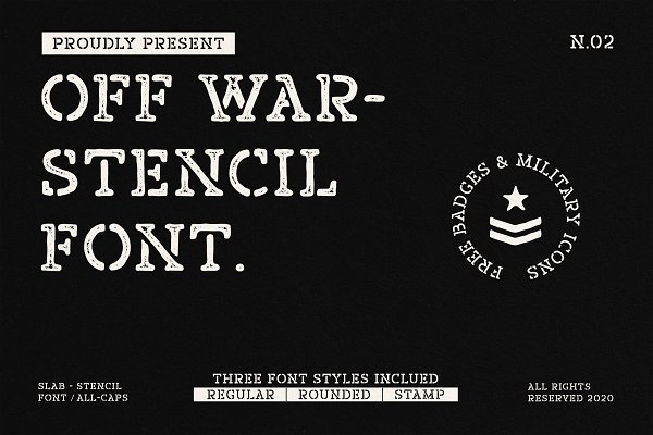 Off War - Stencil Font