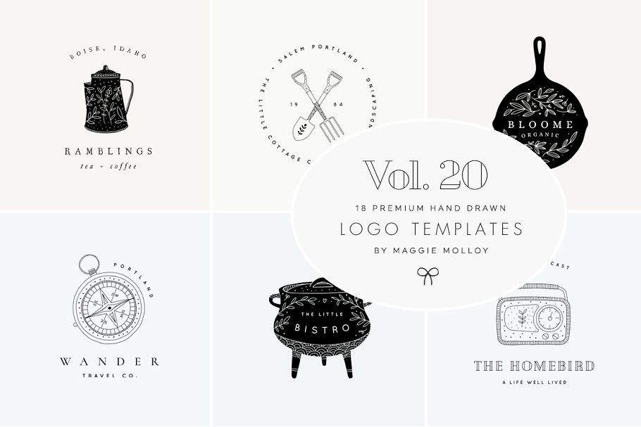 Feminine Premade Logo Bundle Vol. 20