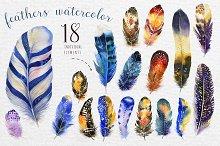 Watercolor BOHO feather DIY III