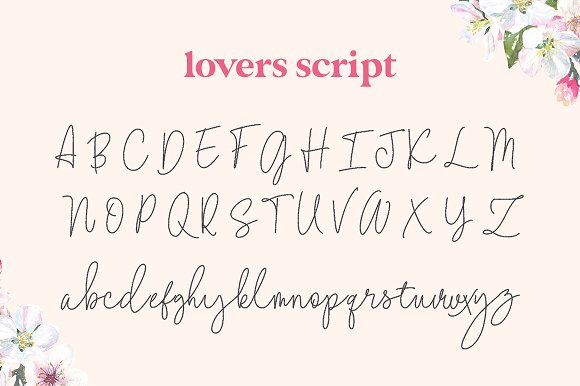 Lovers Script Font Family in Script Fonts - product preview 4