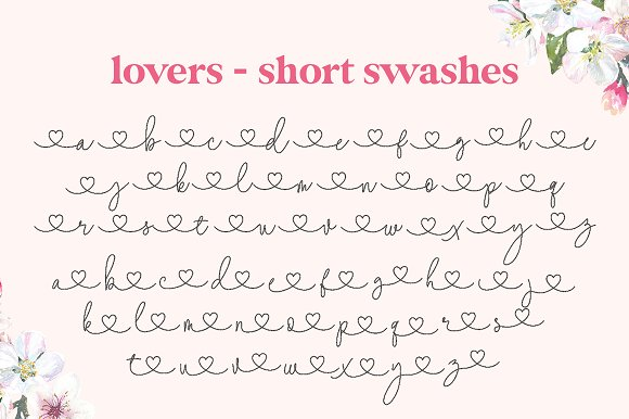 Lovers Script Font Family in Script Fonts - product preview 6