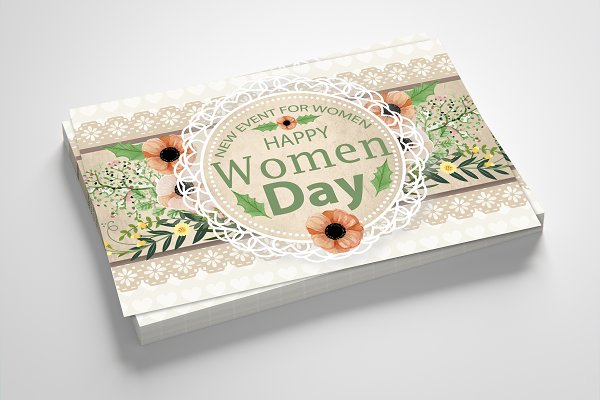 Floral Women's Day Greeting Card