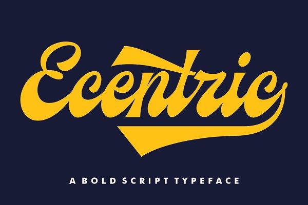 Ecentric | Vintage Script