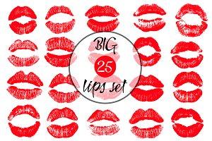 20 Lips vector set.