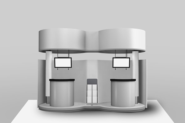 Trade Show Exhibition Booth Mockup PSD Mockup - Mockups Free Device