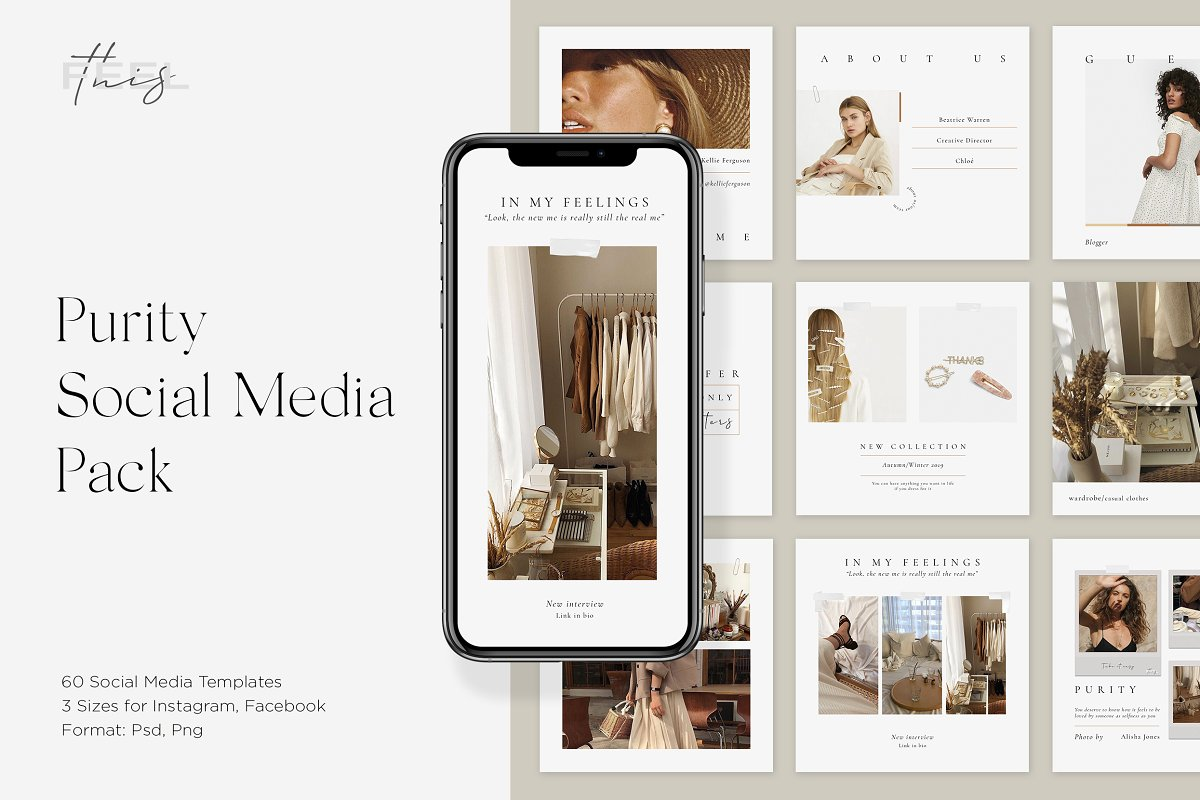 Purity Social Media Pack in Instagram Templates - product preview 8
