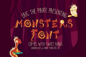 Monsters - Cartoon Vector Font