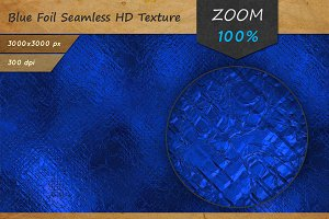 Blue Foil HD Texture