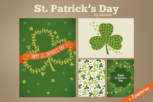 St. Patrick's Day cards and patterns