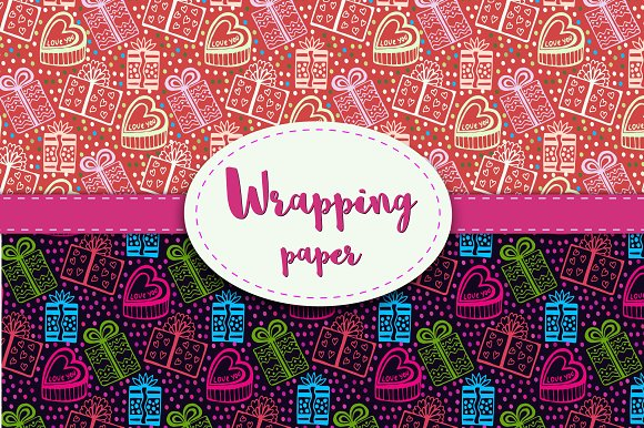 Wrapping paper. Gift wrap