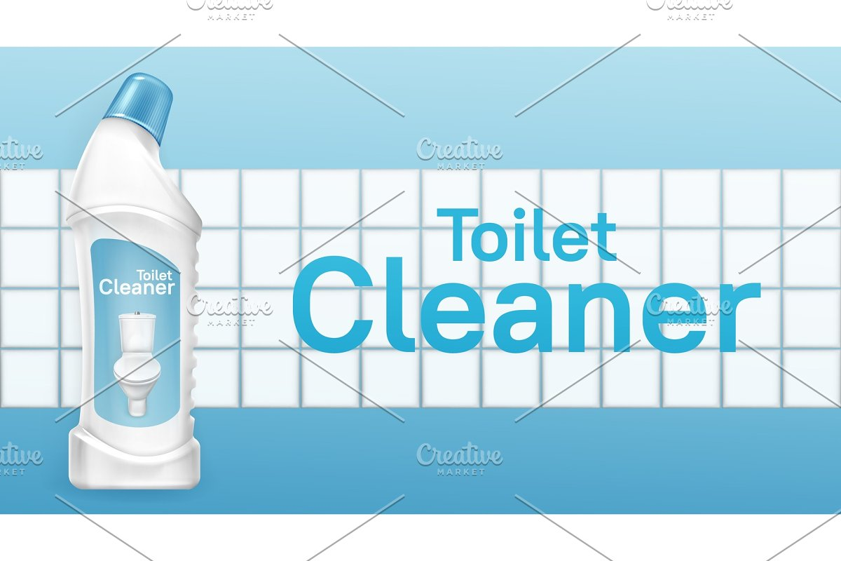 Toilet cleaner banner with liquid in Textures - product preview 8