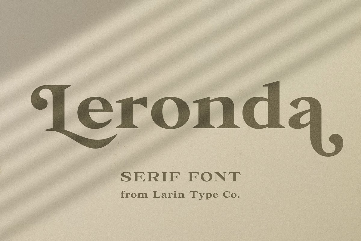 Leronda in Serif Fonts - product preview 8