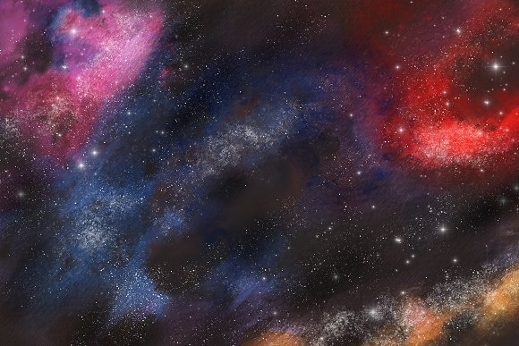 Space Watercolor Backgrounds Set in Textures - product preview 8