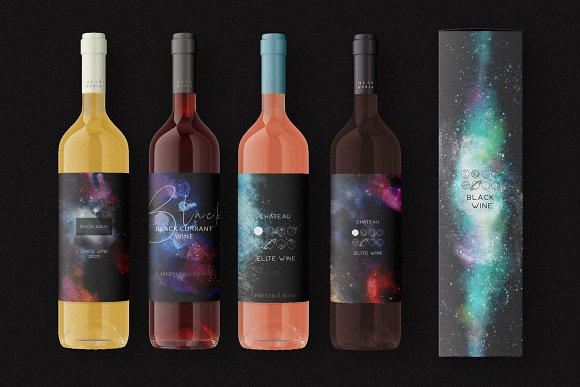 Space Watercolor Backgrounds Set in Textures - product preview 11