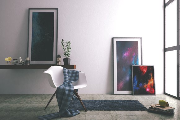 Space Watercolor Backgrounds Set in Textures - product preview 12