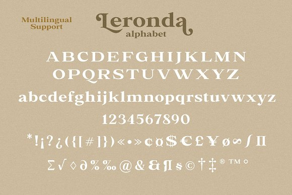 Leronda in Serif Fonts - product preview 10