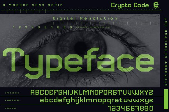 Crypto code - Sans Serif font family in Sans-Serif Fonts - product preview 3