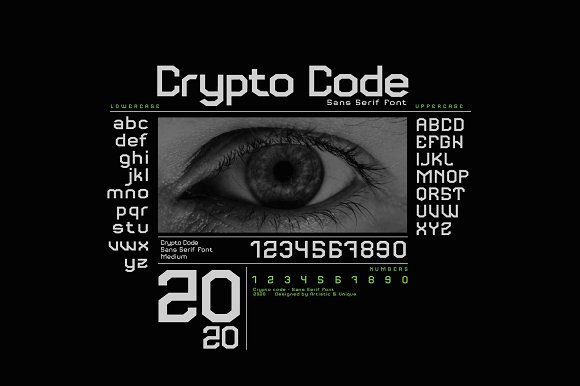Crypto code - Sans Serif font family in Sans-Serif Fonts - product preview 5