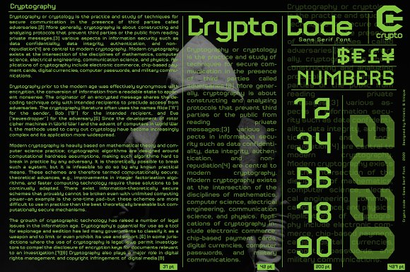 Crypto code - Sans Serif font family in Sans-Serif Fonts - product preview 8