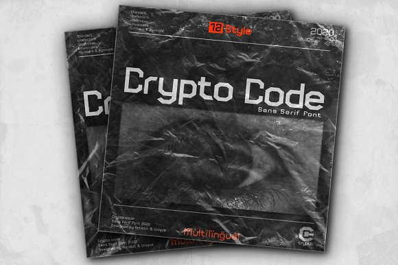 Crypto code - Sans Serif font family in Sans-Serif Fonts - product preview 11