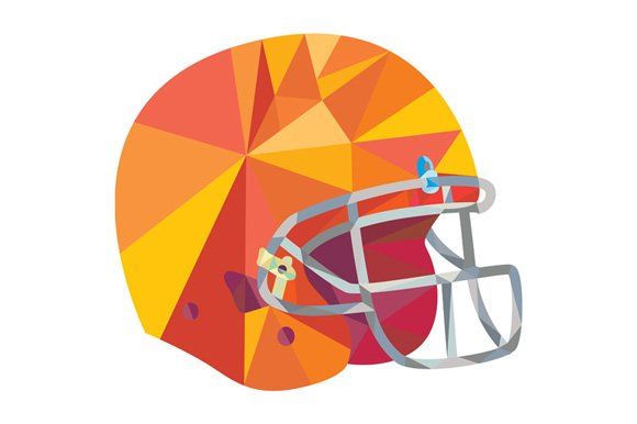 american football helmet low polygon illustrations creative market