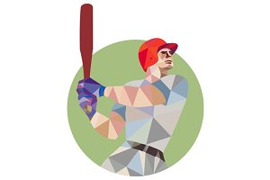 Baseball Batter Batting Circle Low P